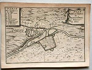 Plan des Villes et Chateau de Creutzhnac: Bad Kreuznach: