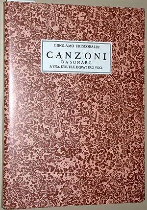 Il Primo libro delle canzoni a una,: Frescobaldi, Girolamo: