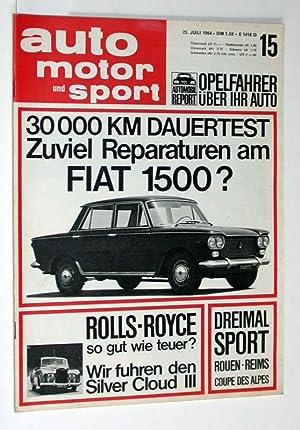 Auto Motor und Sport. 25. Juli 1964.: Zeitschrift: