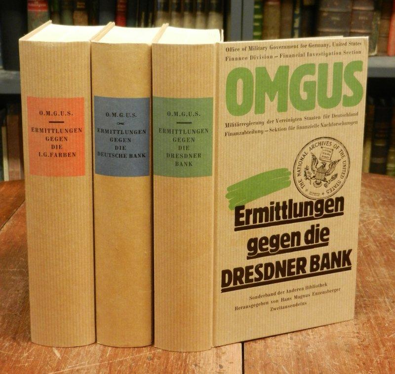 3 Bände. Ermittlungen gegen die Deutsche Bank.: O.M.G.U.S. [OMGUS]: