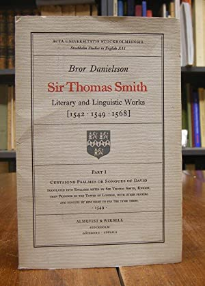 Literary and Linguistic Works [1542, 1549, 1568].: Smith, Thomas: