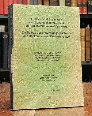 Funktion und Stellenwert der Generationsproblematik im Romanwerk: Faulkner, William -