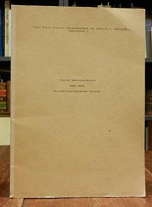 Hans Meid. Ein bibliographischer Versuch. Inter folia: Meid, Hans -