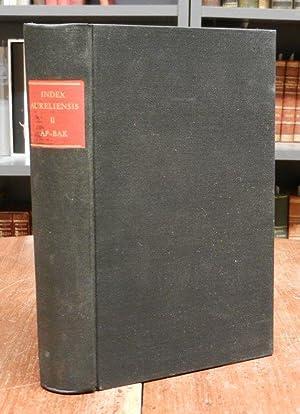 Index Aureliensis. Catalogus librorum sedecimo saeculo impressorum.