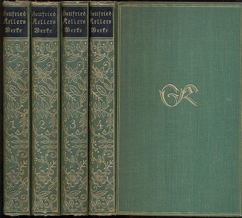 Gesammelte Werke in vier Bänden (11.-14. Tsd.).: Keller, Gottfried