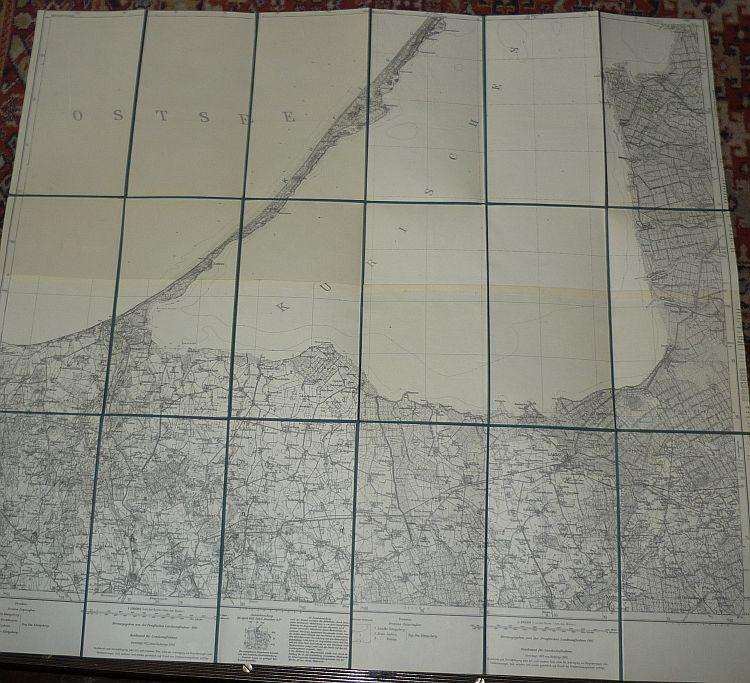 Kurische Nehrung Karte.Karte Der Kurischen Zvab
