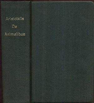Aristotelis de animalibus historia. Textum recognovit Leonardus: KOPIE. -