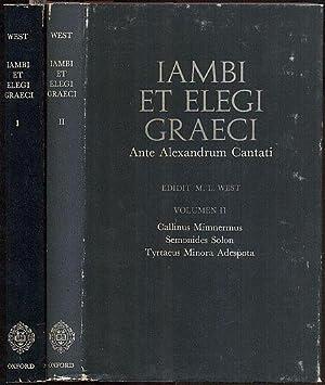 Iambi et Elegi Graeci ante Alexandrum Cantati.