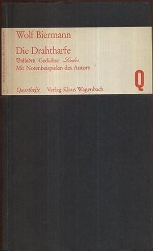 Die Dratharfe. Balladen. Gedichte, Lieder. (1.-4. Tsd.).: Biermann, Wolf