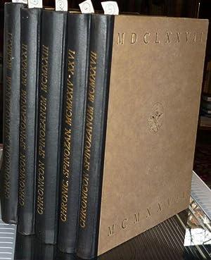 Chronicon Spinozanum. 5 Bände (alles).