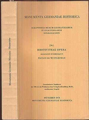 Hrotsvithae opera. Recensuit et emendavit Paulus de: Hrotsvith (Roswitha von