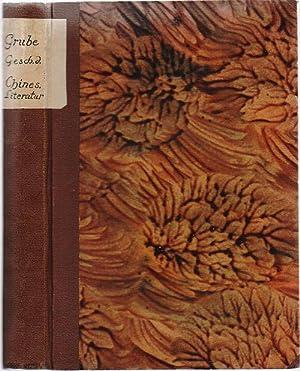 Geschichte der chinesischen Litteratur.: Grube, Wilh. (Wilhelm)