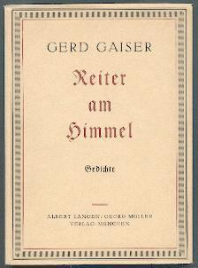 Reiter am Himmel.: Gaiser, Gerd: