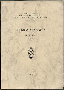 Jubiläumsband 1873-1963.