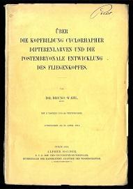 Über die Kopfbildung cyclorhapher Dipterenlarven und die postembryonale Entwicklung des ...