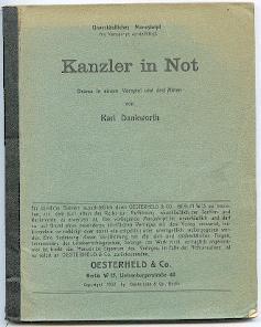 Kanzler in Not.: Dankworth, Karl: