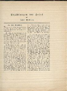 Erzählungen von Hebel mit sechs Bildern.: Hebel, Johann Peter: