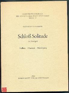 Schloß Solitude bei Stuttgart.: Kleemann, Gotthilf: