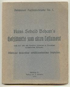 Holzschnitte zum alten Testament.: Beham, Hans Sebald: