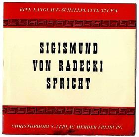 Siegismund von Radecki spricht.: Radecki, Sigismund von: