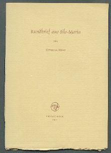 Rundbrief aus Silo-Maria.: Hesse, Hermann: