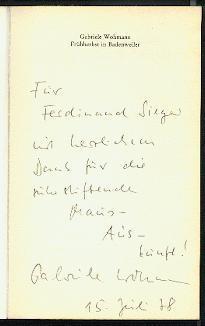 Frühherbst in Badenweiler.: Wohmann, Gabriele: