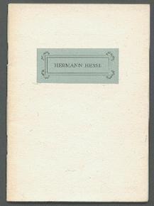Für Hermann Hesse.