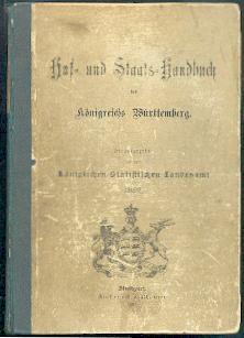 Hof- und Staats-Handbuch des Königsreichs Württemberg.