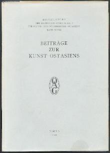 Beiträge zur Kunst Ostasiens.
