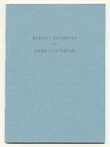 """Der Sinn von Hermann Hesses Roman """"Der Steppenwolf"""" - Brief im Mai.: Pannwitz, Rudolf und..."""