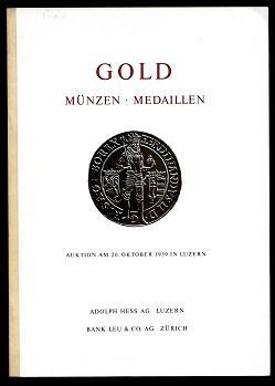Gold: Münzen, Medaillen.