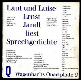 Laut und Luise.: Jandl, Ernst: