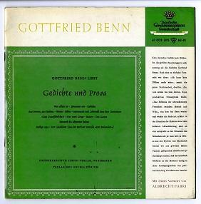 Gottfried Benn liest Gedichte und Prosa.: Benn, Gottfried: