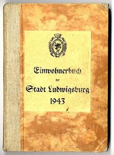 Einwohnerbuch der Kreisstadt Ludwigsburg.
