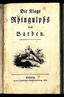 Die Klage Rhingulps des Barden.: Kretschmann, Karl Friedrich]: