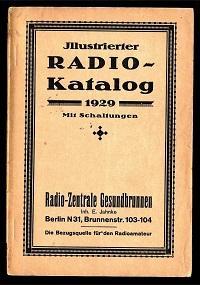Illustrierter Radio-Katalog 1929.