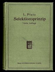Selektionsprinzip und Probleme der Artenbildung.: Platen, Ludwig: