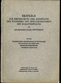 Beiträge zur Erforschung der Ausspülung des Zylinders von Zweitaktmotoren mit Schlitzspülung.: ...