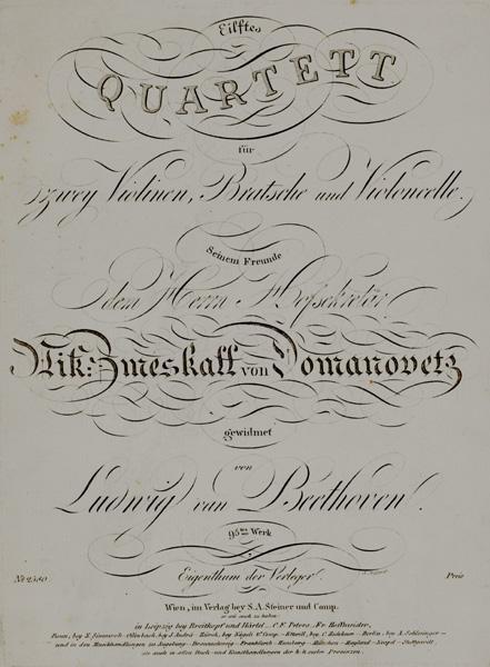 Eilftes Quartett für zwey Violinen, Bratsche und Violoncelle (Quartett für 2 Violinen, ...