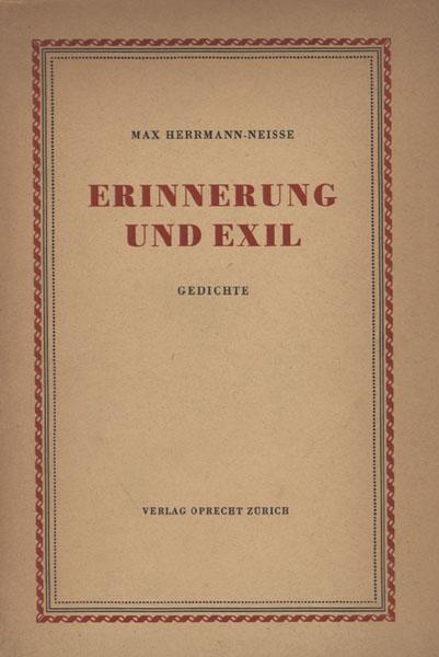 Erinnerung Und Exil Gedichte Mit Einem