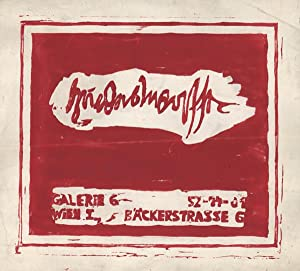 Hundertwasser [Ausstellungsplakat]. Rotdruck mit Schablone.