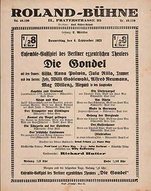 Ensemble-Gastspiel des Berliner exzentrischen Theaters 'Die Gondel': Klein, César -