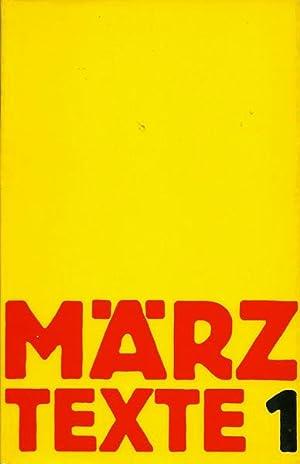 März Texte 1.: März Verlag -