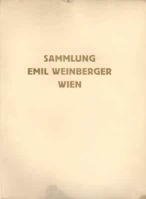 Versteigerung der hinterlassenen Sammlung des Herrn Emil Weinberger, Wien. Keramik, Glas, Arbeiten ...