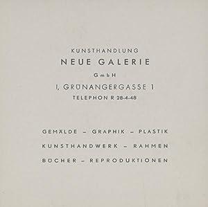 Visitkarte der Kunsthandlung Neue Galerie GmbH I, Grünangergasse 1 . Gemälde - Graphik - ...