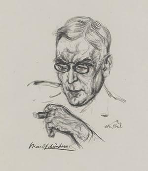 Karl Schönherr, Schriftsteller und Arzt, 1867-1943, Portraitlithographie.: Schönherr, Karl -