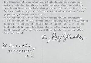 Brief mit eigenh. Unterschrift, Köln 14.3.1988. 1 S. 4°. Sein Briefkopf. BEILAGE.: ...