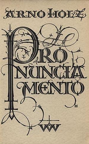 Pronunciamento.: Holz, Arno.