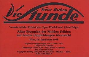 Die böse Buben Stunde. Wien, Sonntag 27. Jänner, 4. Jahrgang 1924.: Polgar, Alfred und ...