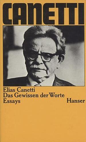 Das Gewissen der Worte. Essays.: Canetti, Elias.